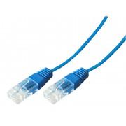 Cordon téléphonique bleu 1 paire 4-5/4-5  0,50m