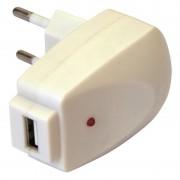 Chargeur USB sur prise secteur 1000 mA blanc emballage blister