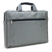 """Sacoche pour PC portable 15.6"""" et documents couleur gris en nylon"""