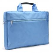 """Sacoche pour PC portable 15.6"""" et documents couleur bleu en nylon"""