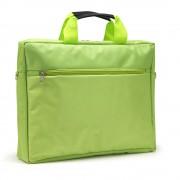 """Sacoche pour PC portable 15.6"""" et documents couleur vert en nylon"""