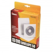 Pochette papier avec fenêtre et rabat 1 CD/DVD pack 50