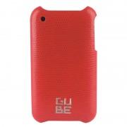 Coque cuir Lézard rouge avec film de protection pour iPhone 3G 3GS G-CUBE GPN-3R