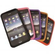 Coques silicone jeu de 2 pour iPhone 4 4S 1 noir et 1 couleur blister WAYTEX