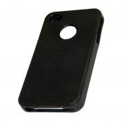 Coque silicone rigide noir pour iPhone 4 4S STK IP4TPUBLK