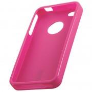 Coque silicone rigide rose pour iPhone 4 4S STK IP4TPUPK