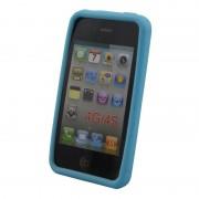 Coque silicone pour iPhone 4 4S Bleu Clair Waytex
