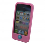 Coque silicone pour iPhone 4 4S Rose Waytex