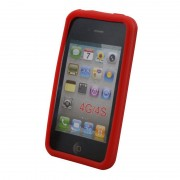Coque silicone pour iPhone 4 4S Rouge Waytex