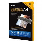 Feuilles de plastification A4 125 microns par face, 250µ total, boîte de 100