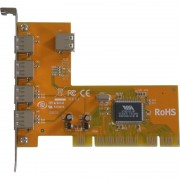 Carte PCI USB 2.0 4 ports + 1 interne Sunix 4212V