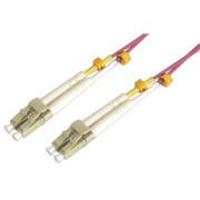 Jarretière optique multimode OM4 50/125 duplex Zipp rose LC/LC 5.00m