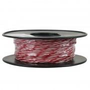 Jarretière téléphonique 2 fils cuivre rouge/blanc touret plastique 100m