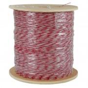 Jarretière téléphonique 2 fils cuivre rouge/blanc touret 1000m