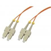 Jarretière optique multimode OM2 50/125 duplex Zipp orange SC/SC 15.00m