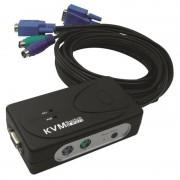 KVM 2 UC VGA/PS/2 avec câbles