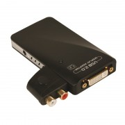 Convertisseur USB 2.0 / DVI avec adaptateurs HDMI / HD15 et audio RCA