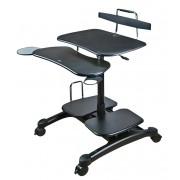 Table poste mobile assis/debout pour PC, écran, imprimante