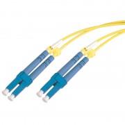 Jarretière optique monomode OS2 9/125 duplex Zipp jaune LC/LC 10.00m