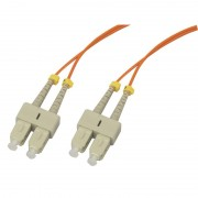 Jarretière optique multimode OM1 62.5/125 duplex Zipp orange SC/SC 5.00m