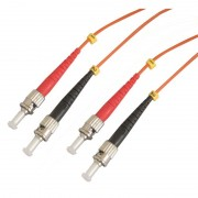 Jarretière optique multimode OM2 50/125 duplex Zipp orange ST/ST 1.00m