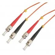 Jarretière optique multimode OM2 50/125 duplex Zipp orange ST/ST 3.00m