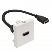 Plastron 45x45 HDMI F/F avec câble 20.00cm