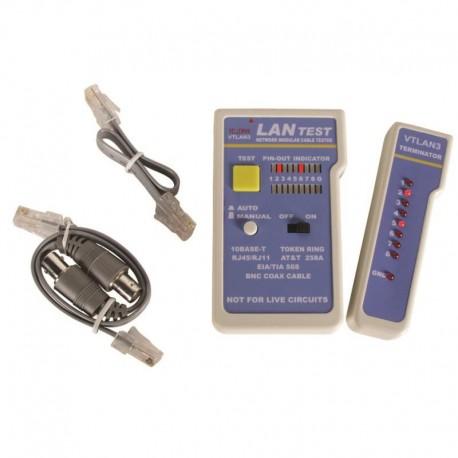 Testeur réseau multiple RJ11/12/RJ45 et Coax