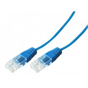 Cordon téléphonique bleu 1 paire 4-5/4-5  1.00m