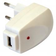 Chargeur USB sur prise secteur 1000 mA blanc