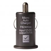 Mini chargeur USB sur prise allume cigare noir 1A SACHET