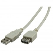 Rallonge high speed USB 2.0 A/A mâle-femelle 1.80m beige blister