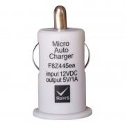 Mini chargeur USB sur prise allume cigare blanc 1A SACHET