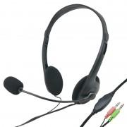 Casque multimédia stéreo tour de tête réglable avec micro et réglage du volume