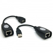 Extendeur USB 2.0 via RJ45 Cat. 5e 60.00m