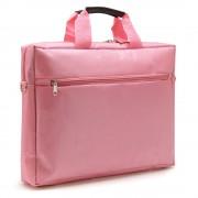 """Sacoche pour PC portable 15.6"""" et documents couleur rose en nylon"""