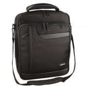 """Sacoche sac à dos 15.4"""" noir nylon avec plusieurs compartiments"""