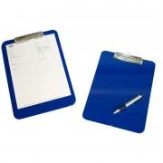 Plaque bleu porte note rigide avec pince