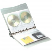 Classeur 4 anneaux 10 Pochettes pour 4 CD/DVD avec porte étiquettes