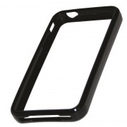 Protection bracelet silicone rigide noir pour iPhone 4 4S IP4SAFBK/PP