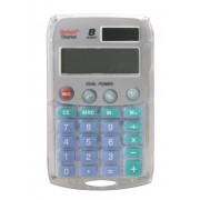 Calculatrice de poche Argent 8 chiffres solaire/pile REBELL STARLET
