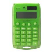 Calculatrice de poche Vert 8 chiffres solaire/pile REBELL STARLET