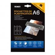 Feuilles de plastification A6 75 microns par face, 150µ total, boite de 25