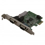 Carte PCI Express 1x 2 ports série format standard & Low Profile