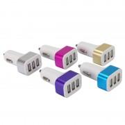 Chargeur allume cigare 3 entrées USB, 1A + 2A + 2.1A blister Waytex
