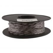 Jarretière téléphonique 2 fils cuivre noir/blanc touret plastique 100m