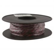 Jarretière téléphonique 2 fils cuivre noir/rouge touret plastique 100m