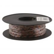 Jarretière téléphonique 2 fils cuivre noir/orange touret plastique 100m