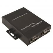 Adaptateur USB 2.0 A M / 2 ports RS232 (série) DB9M