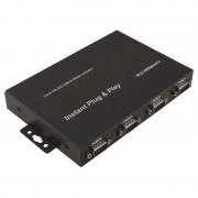Adaptateur USB 2.0 A M / 4 ports RS232 (série) DB9M